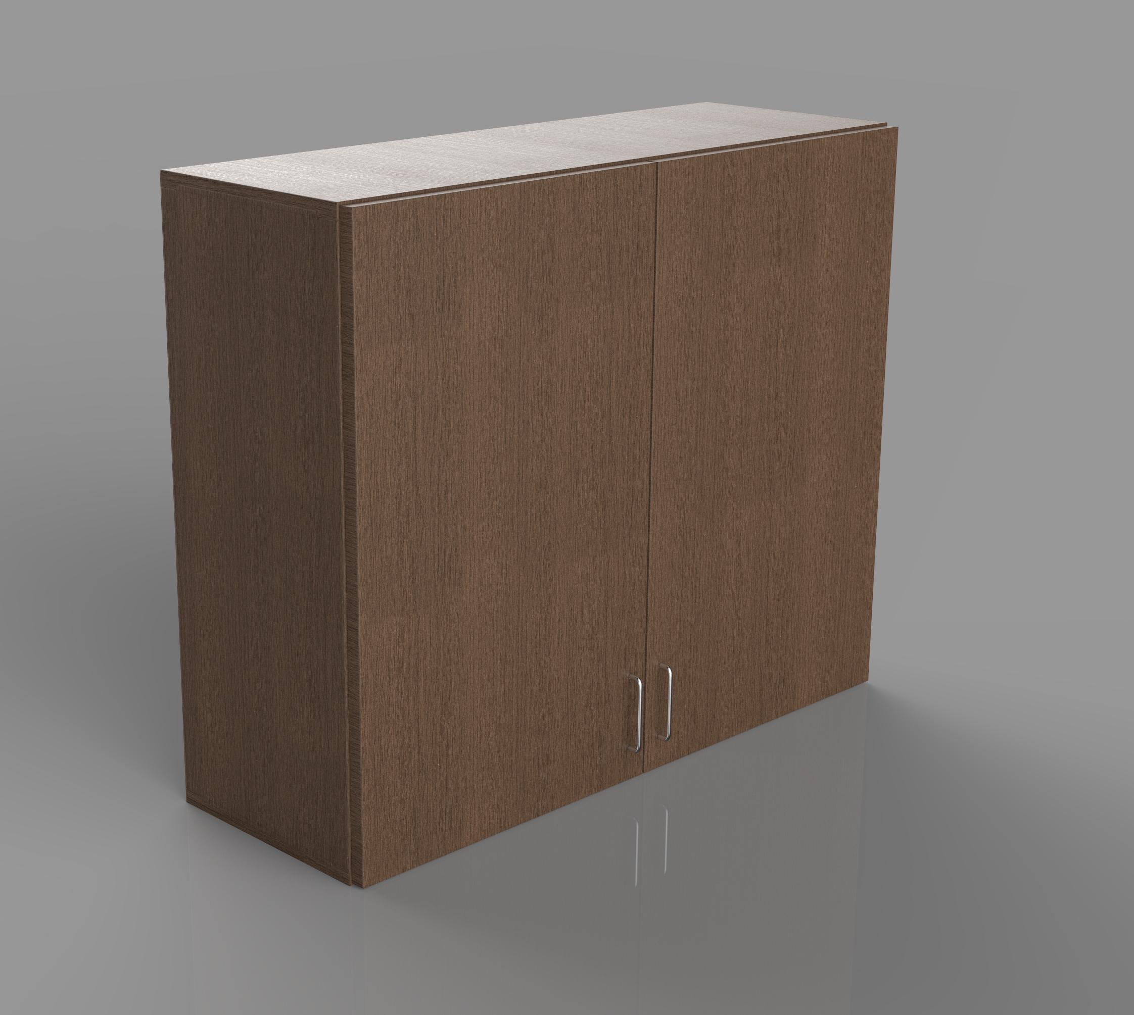 Example of a commercial double door upper cabinet