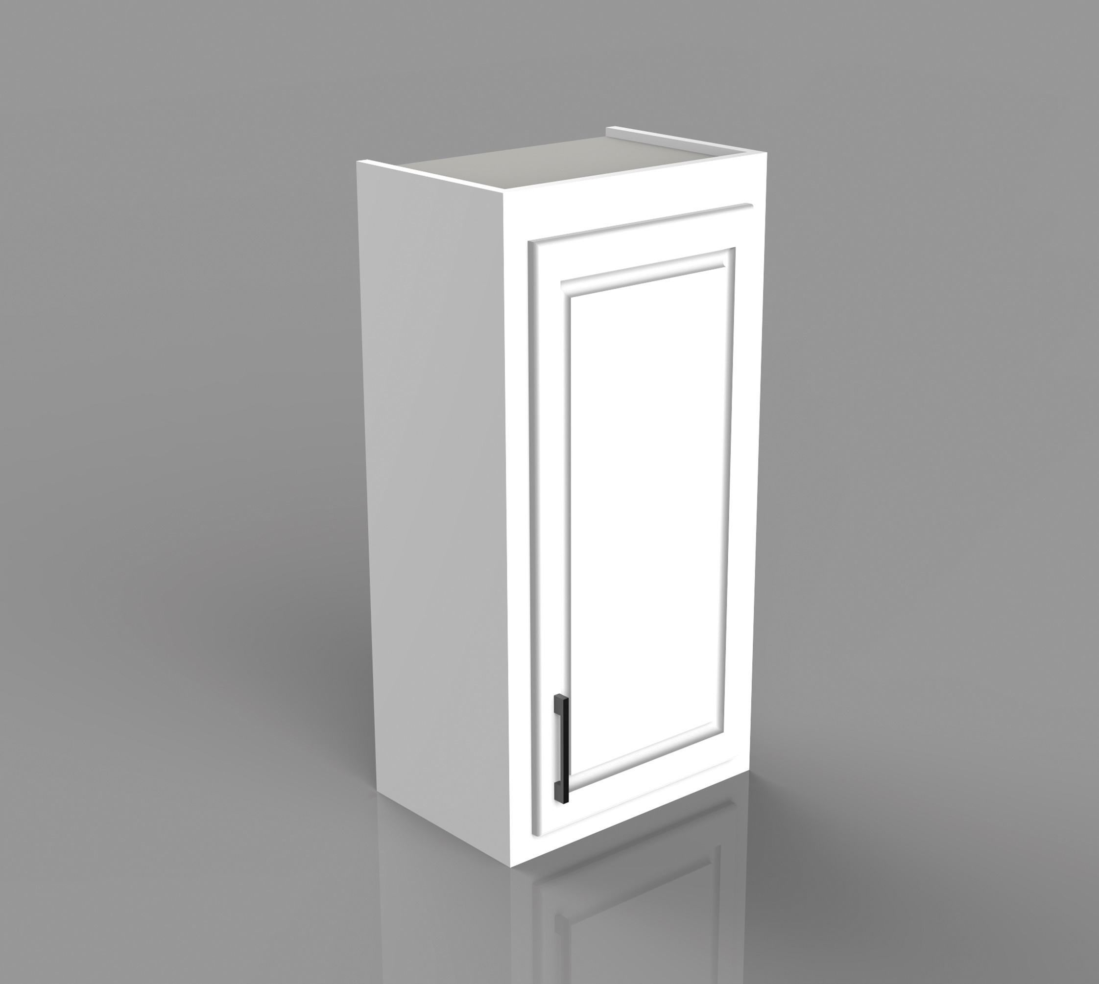 Example of a residential single door upper cabinet