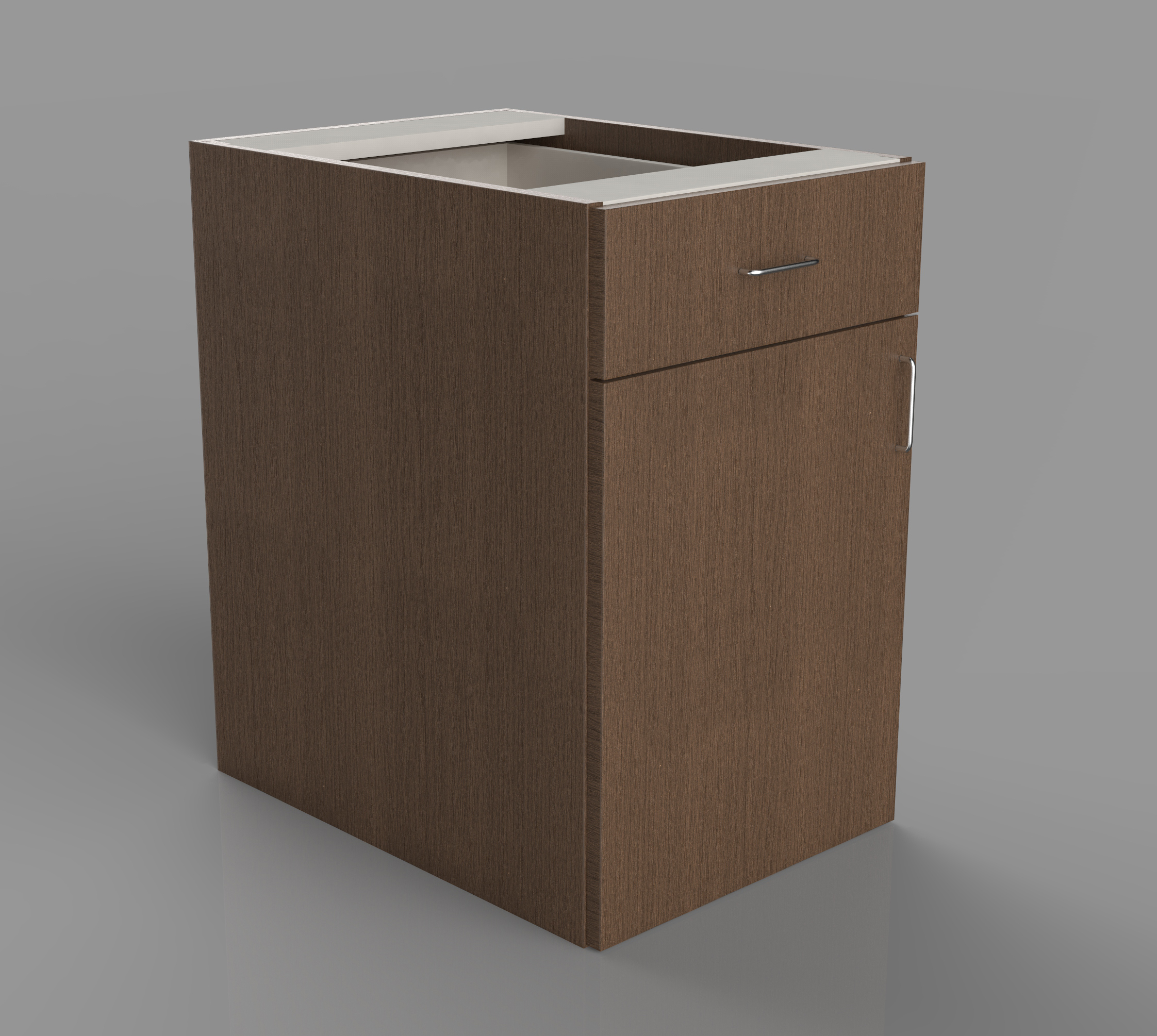 Lower cabinet with one drawer and door