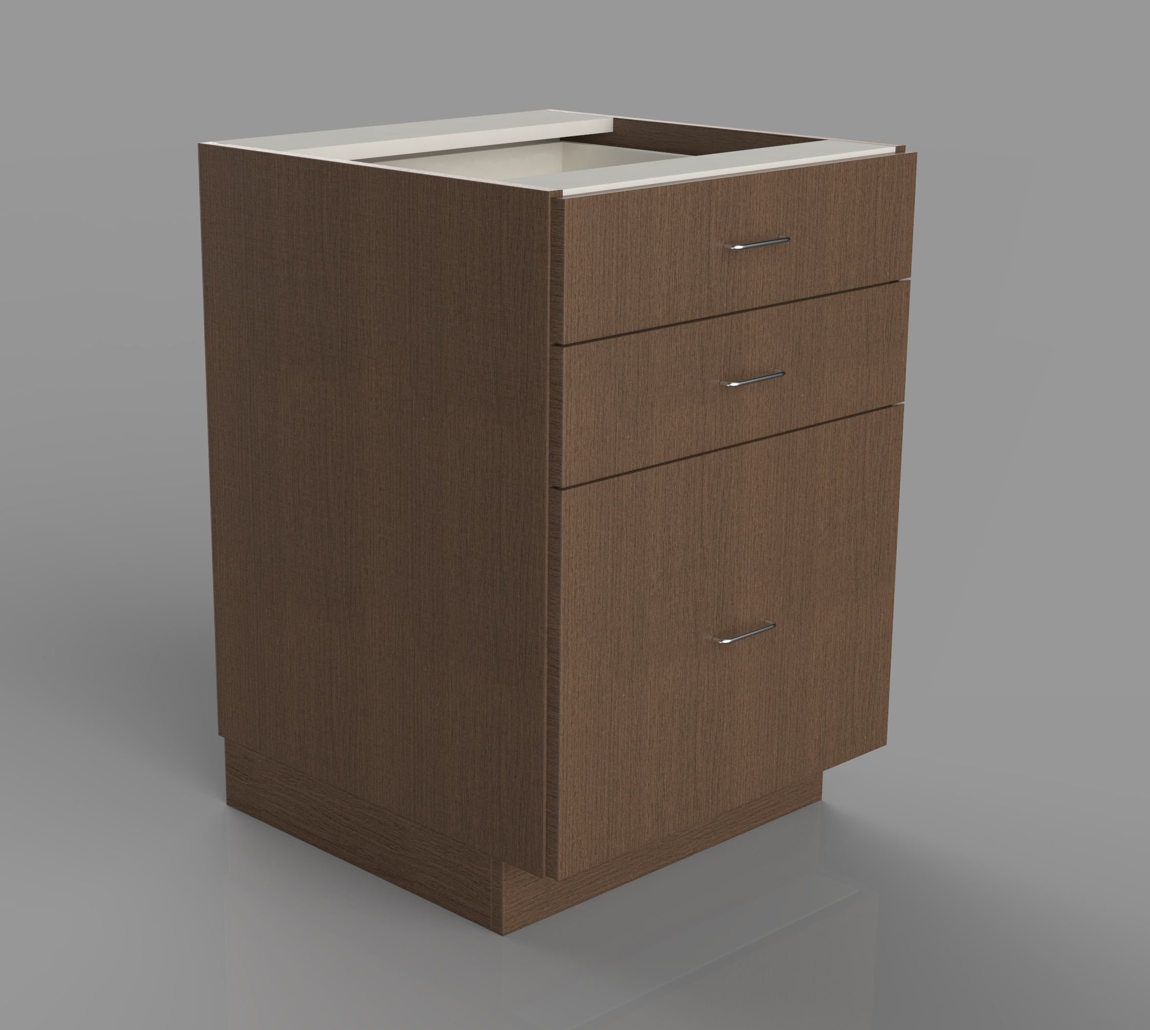 Cabinet with three lower drawers