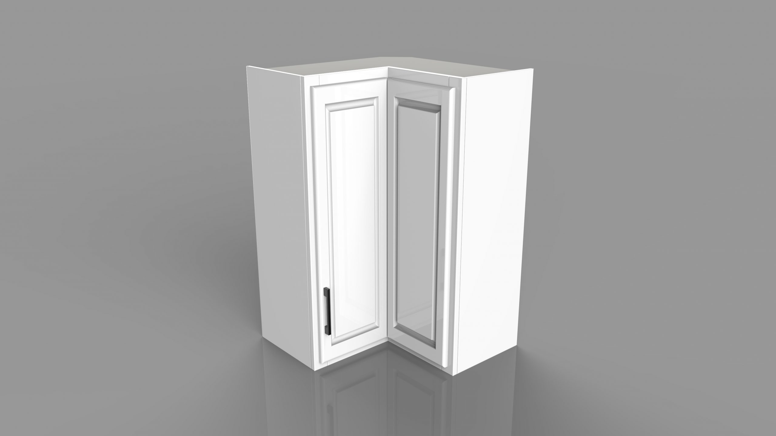 Example of a residential upper corner cabinet